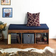 J3-Acacia-NV  Storage Bench w/  Cushion
