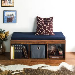 J3-Acacia-NV  Storage Bench w/  Cushion