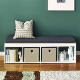 J4-Vintage-DG  Storage Bench w/  Cushion