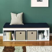 J4-Vintage-NV  Storage Bench w/  Cushion