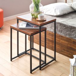 Love-Black-Acacia  Side Table (2 Pcs 포함)