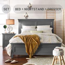 Tamarack-Grey  Queen Panel Bed Set  (침대+협탁+화장대+거울)