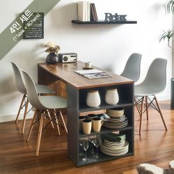 ART-4-Acacia-4BB-G Dining Set  (4인용)   (1 Table + 4 Chairs)