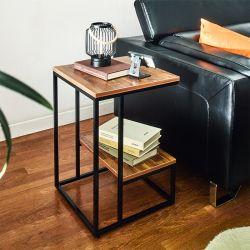 Lexi-Blk-Acacia  Side Table