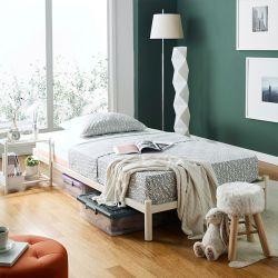 H9441-Ivory-1100  Super Single Metal Bed