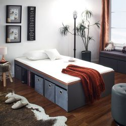 Newport-Acacia Super Single Storage Bed