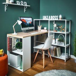 Rancho-Oak-W Desk w/ Bookcase