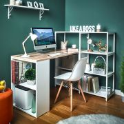 Rancho-Vintage-W Desk w/ Bookcase