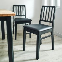 Miso-Black-C  Wooden Chair