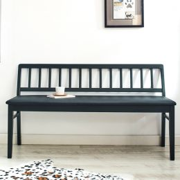 Miso-Blk-XL  Wooden Bench