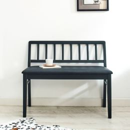 Miso-Blk-S  Wooden Bench
