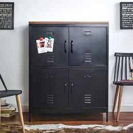 (0)LLC-112-Black Metal Cabinet