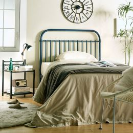 H9443-Navy-1100  Super Single Metal Bed