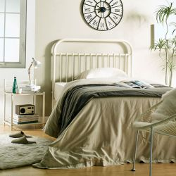 H9443-White-1100 Super Single Metal Bed