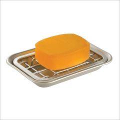 73012EJ  Gia Soap Dish - 2 Piece Polished SS