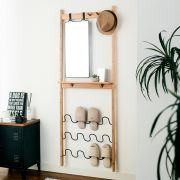 SW1789  Slipper Rack w/ Mirror