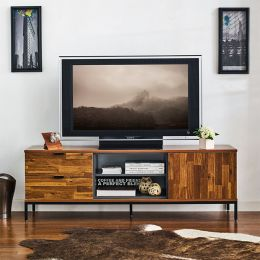 Nautica-160   TV Stand w/ Metal Base