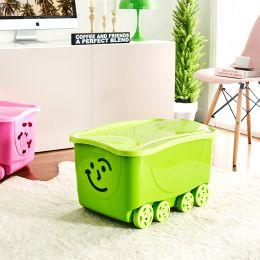 Fancy Smile-Green  Roller Box w/ Lid