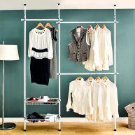 LS178   Clothes Hanger w/ Shelf