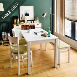 Cabin-4-White-D Dining Table (Table Only)