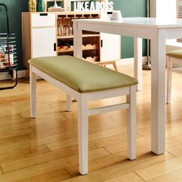 Cabin-White-B  Wooden Bench
