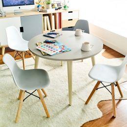 Montessori-Grey  Round Table