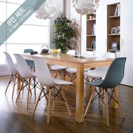 Ocean-N8B-W6-B2  Dining Set  (1 Table + 8 Chairs)
