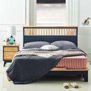NB-Blue-Neo-QB  Queen Panel Bed