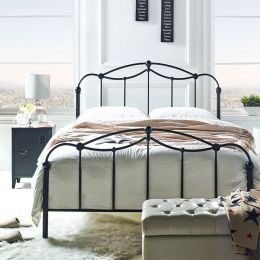 MBD-8820-Black  Queen Metal Bed