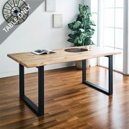 Holly-Oak-WS-T  Wooden Slab Table