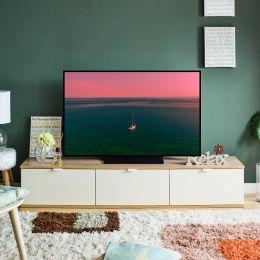JETT-Oak-White  TV Stand