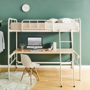 Polo-Ivory-High  Bunker Bed w/ Desk
