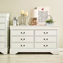 Louis-White-DR Drawer Dresser
