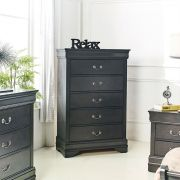 Louis-Grey-CH 5-Drawer Chest
