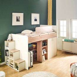 Harvard-C  Storage BUNKER Bed w/ Steps