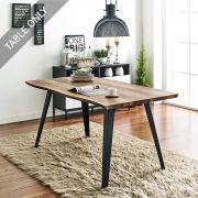 DT-1417-TB Wooden Slab Table