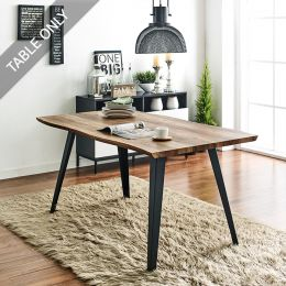 DT-1417-TB Wooden Slab Table