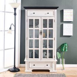 17120 Hartford White Cabinet