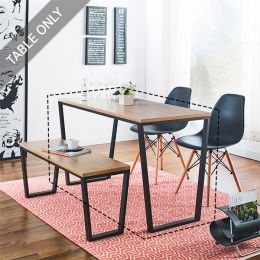 Robe-Blk-Oak-TBL Dining Table  (23t)  (Table Only)