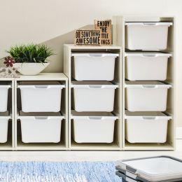 Melody-Wht-9W  Storage Box  (3 Pcs)