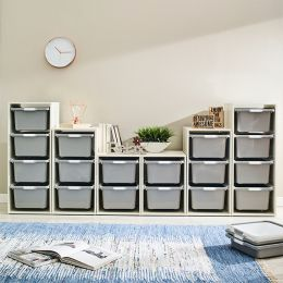 Melody-Wht-FG  Storage Box  (6 Pcs)