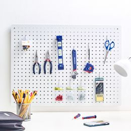 L-Mega-White Peg Board  w/ 12-Hook