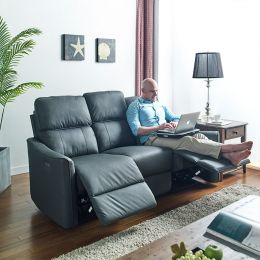 UJ1883-Grey Power Recliner Sofa w/ USB
