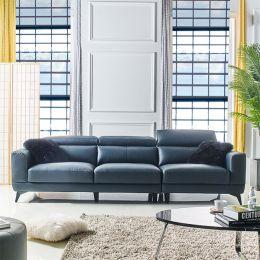 Lisiny-Navy-4  Top Leather Sofa