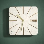 3XXFA18055 Wall Clock  (Stone Base)
