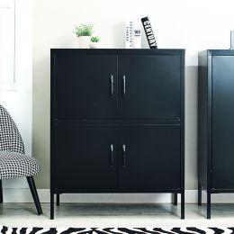 LLC-53-Black  Metal Cabinet