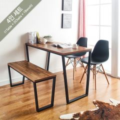 Robe-Black-4  Dining Set (1 Table + 2 Chairs + 1 Bench)