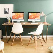 R-IK-Large-RG-Oak-D  Large Desk  +++No Bending Structure+++