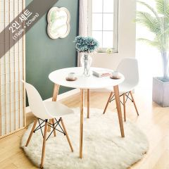 Mar-BB-Wht-2  Dining Set (1 Table + 2 Chairs)