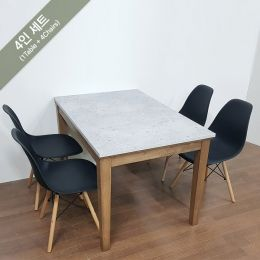 PAI-4-Walnut-Marble-Look  Dining Set